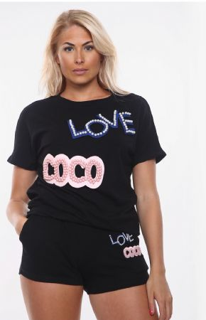 Love Coco Shorts Co-Ord Set